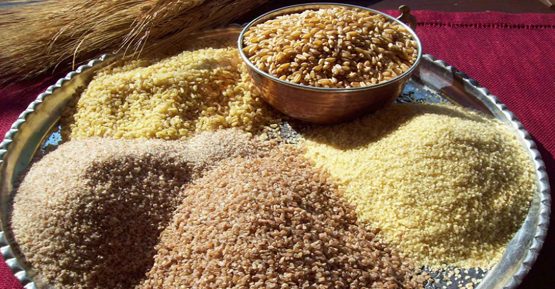 Hulled wheat and bulgur wheat production